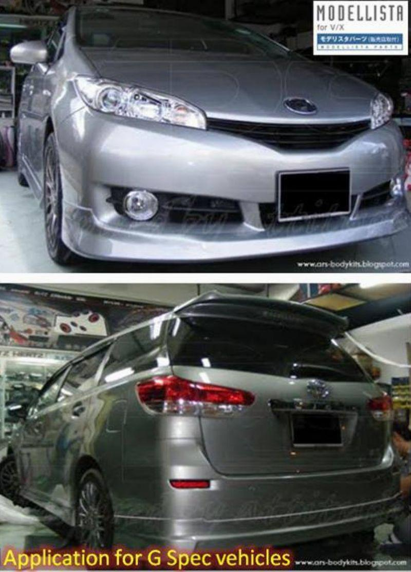 Toyota Wish '09 G Spec Modellista Full Set Skirting Body Kit [ABS]