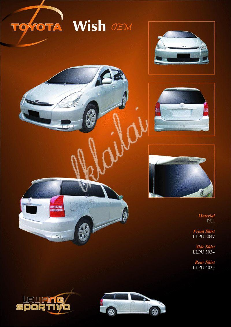 Toyota Wish 1.8 OEM Full Set Body Kit + Paint
