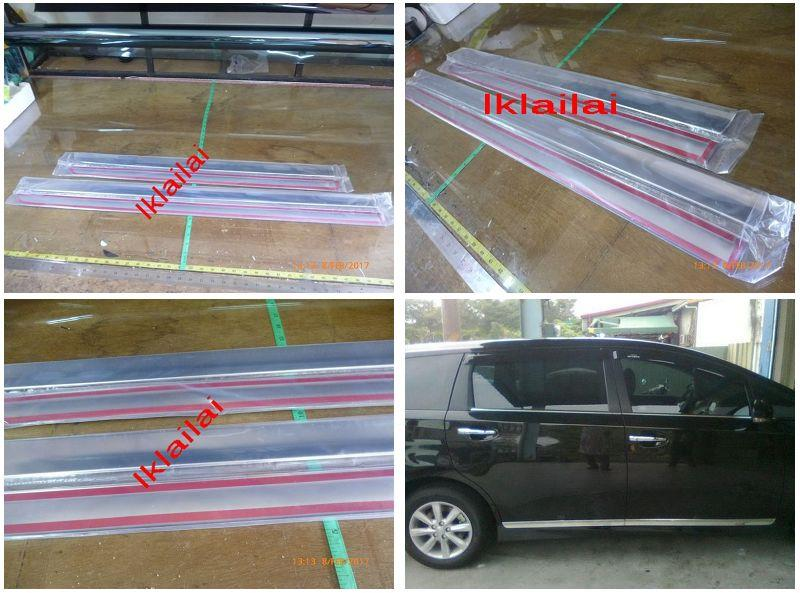 Toyota WISH '13 Door Moulding Chrome Lining 4pcs
