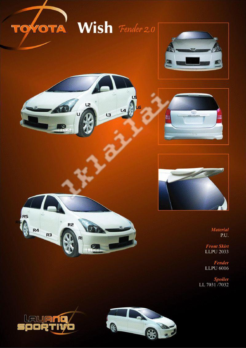 Toyota Wish Fender 2.0 - Body Kits