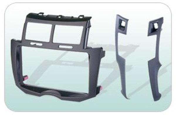 TOYOTA YARIS 2005-09 Double Din Player Casing Panel [BN-25K55405-BLK]