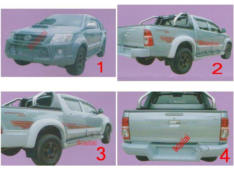 Toyoya Hilux Vigo '12 Body Kit [Bumper/Bonnet/Door Panel/Step Cover]