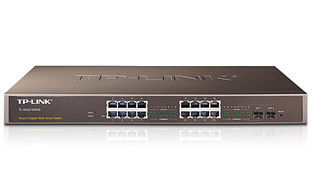 TP-LINK 16-PORT GIGABIT + 2 SFP WEB SMART SWITCH (TL-SG2216)