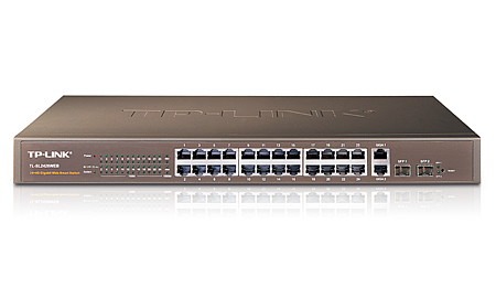 TP-LINK 24-PORT STANDARD + 4 GIGABIT WEB SMART SWITCH (TL-SL2428)