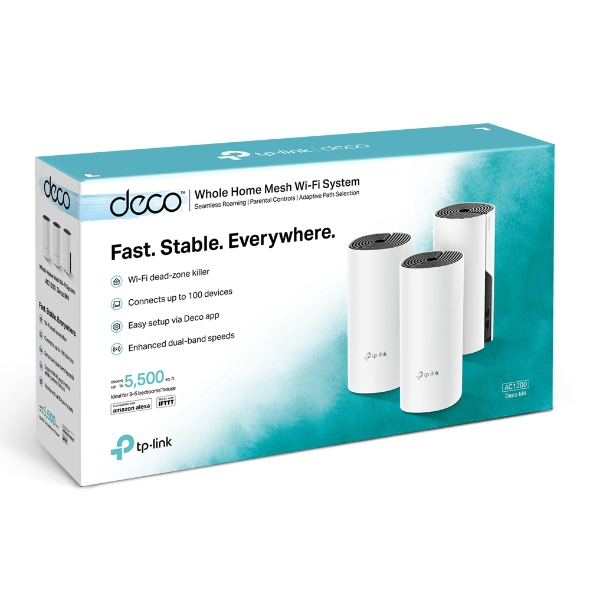 TP-LINK AC1200 Whole Home Mesh System Deco M4 (3PACK) Wireless Router Wi-Fi Sy