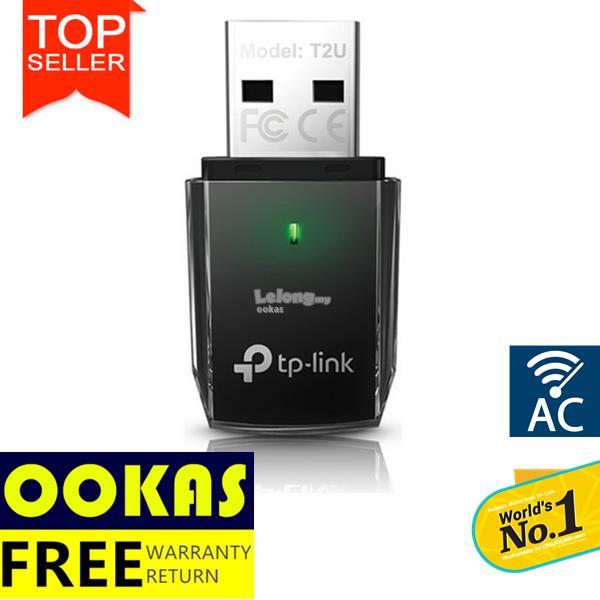 TP-LINK AC600 Mini Wireless Dual Band USB WiFi Adapter Archer T2U