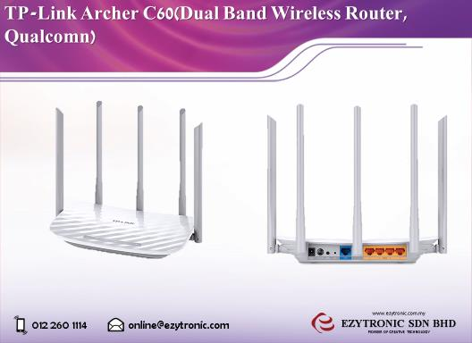 TP-LINK Archer C60 Dual Band Wireless Router, Qualcomm