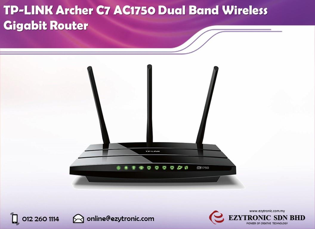 TP-LINK Archer C7 AC1750 Dual Band Wireless Gigabit Router
