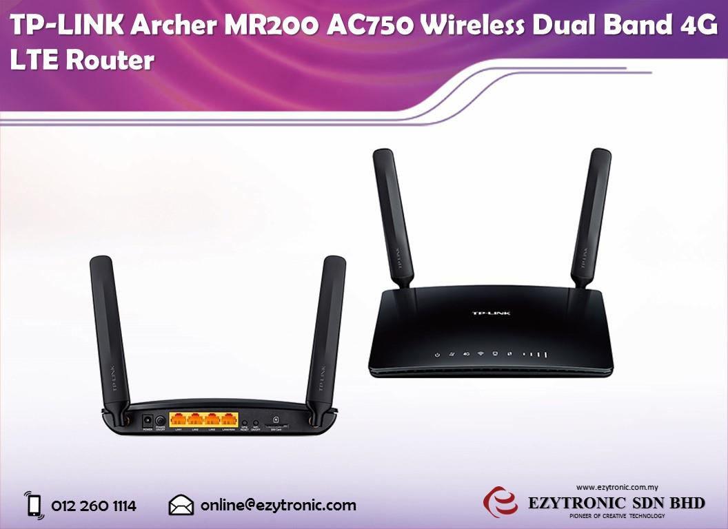 tp link archer mr200 ac750 wireless end 3 6 2018 10 00 am. Black Bedroom Furniture Sets. Home Design Ideas
