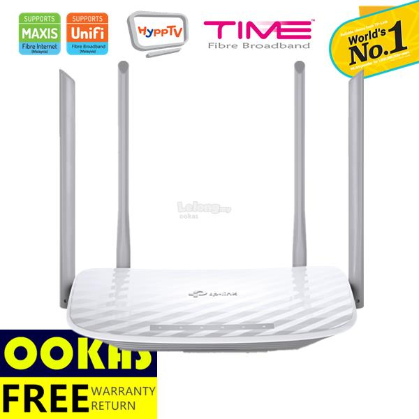 TP-LINK C50 AC1200 2 4+5Ghz Dual Band Wireless WiFi Router Unifi