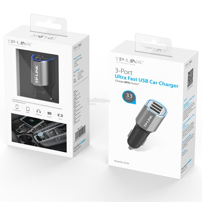 TP-LINK CP230 24W 3-Port 2.4A 33W USB Fast Charging Car Charger
