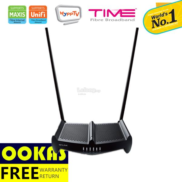 TP-LINK High Power 2x9dbi Wireless  Router TL-WR841HP UniFi/Maxis