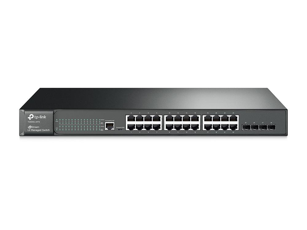 TP-Link JetStream 24-Port Gigabit L2 Managed Switch (T2600G-28TS)
