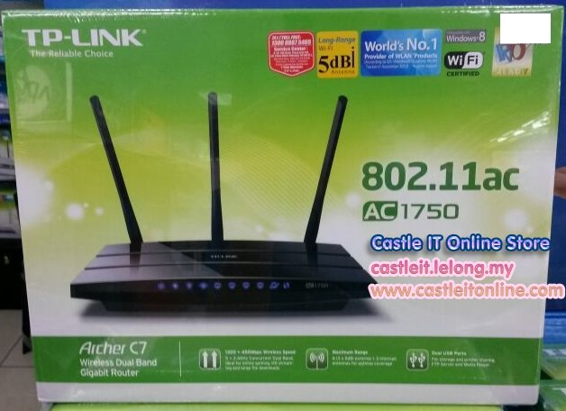 ac1750. tp-link router wifi n 450mbps gigabit dual-band ac1750 (archer c7) ac1750