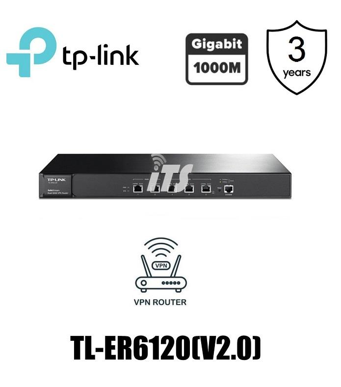 TP-Link SafeStream Gigabit Multi-WAN VPN Router (TL-ER6120(V2.0))