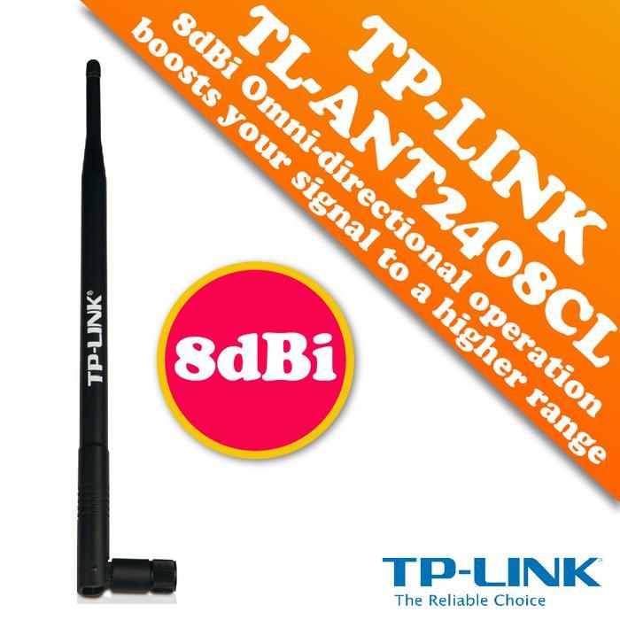 TP-LINK TL-ANT2408CL 2.4GHz 8dBi Indoor Omni-directional Antenna. ‹ ›