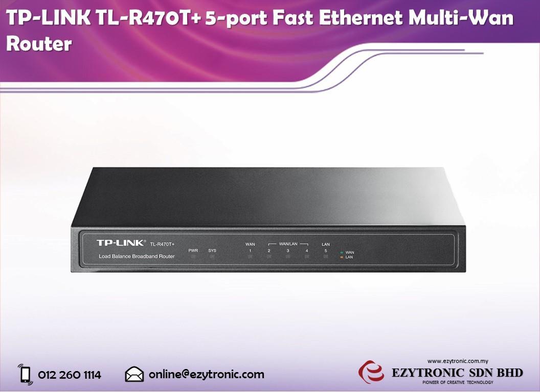 TP-LINK TL-R470T+ 5-port Fast Ethernet Multi-Wan Router