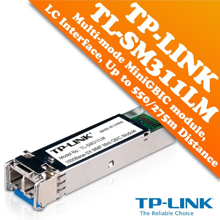 LC interface MiniGBIC TP-LINK TL-SM311LM Gigabit SFP module Up to 550//275m distance Multi-mode
