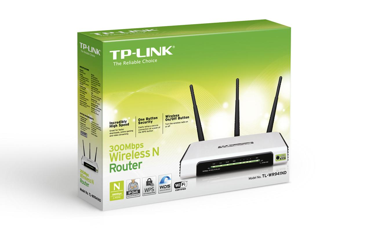 TP-Link TL-WR941ND 300Mbps Wireless N Router 3 Antenna with 4 Ports