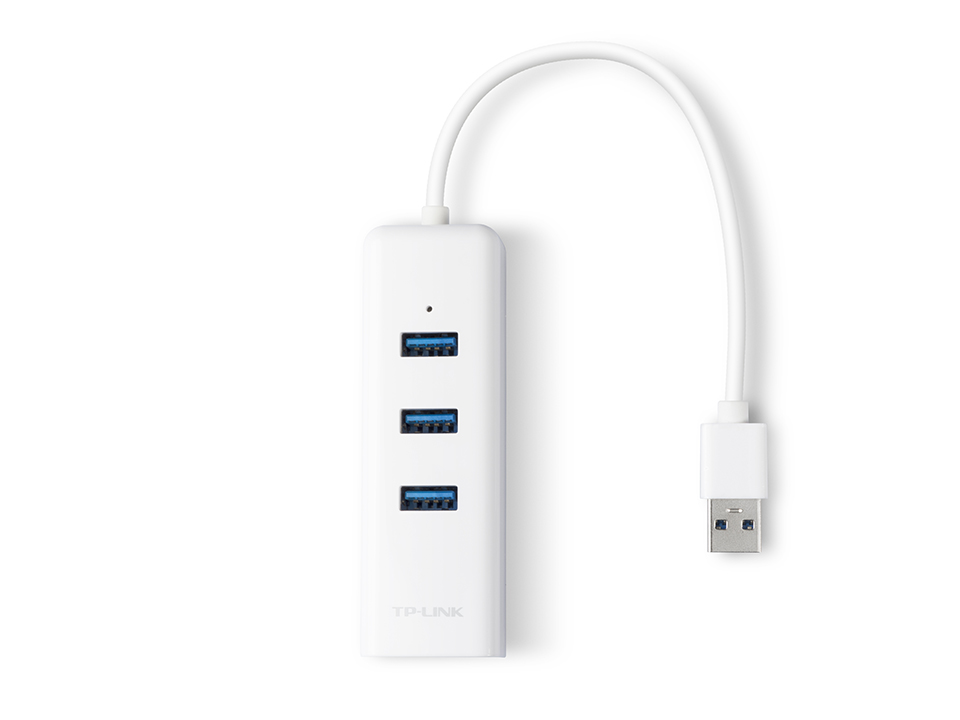 TP-LINK UE330 USB 3.0 3-PORT HUB & GIGABIT ETHERNET 2 in 1 USB ADAPTER