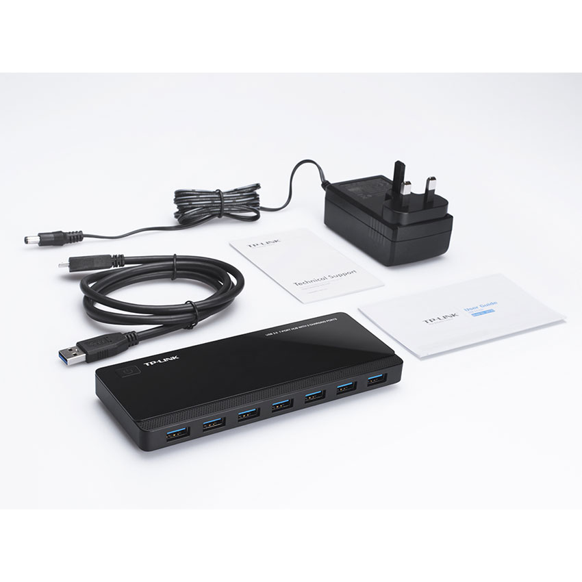 TP-Link UH720 USB 3.0 7 Ports Data Hub with 2 Ports Smart Charger Charging Por