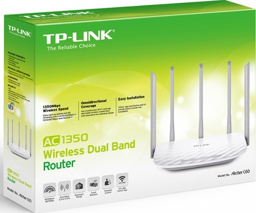 TP-LINK WIFI N450 DUAL-BAND AC1350 ROUTER (ARCHER C60)