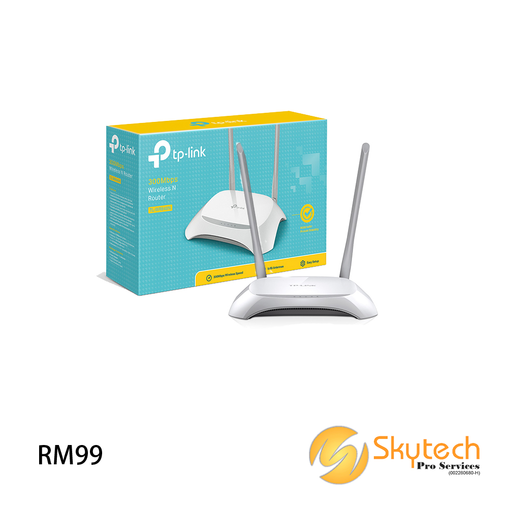 TP-LINK WIRELESS N300 UNIFI ROUTER (TL-WR840N)
