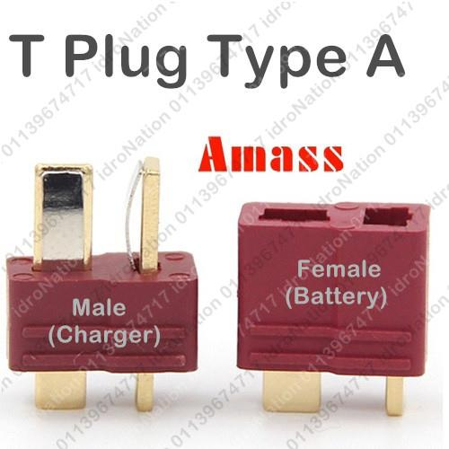 TPlug T Plug Deans Red Male Female Plugs Li-po RC Battery Connector