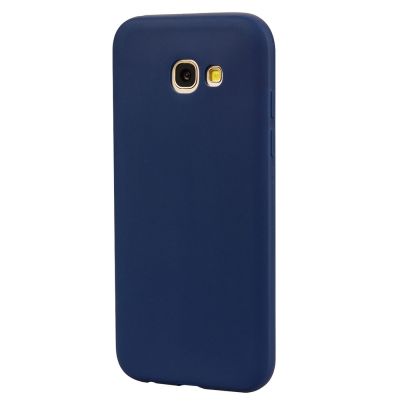 separation shoes 5ef68 8567b TPU Case for Samsung Galaxy A520 / A5 2017 Candy Color Silicone Cover (BLUE)