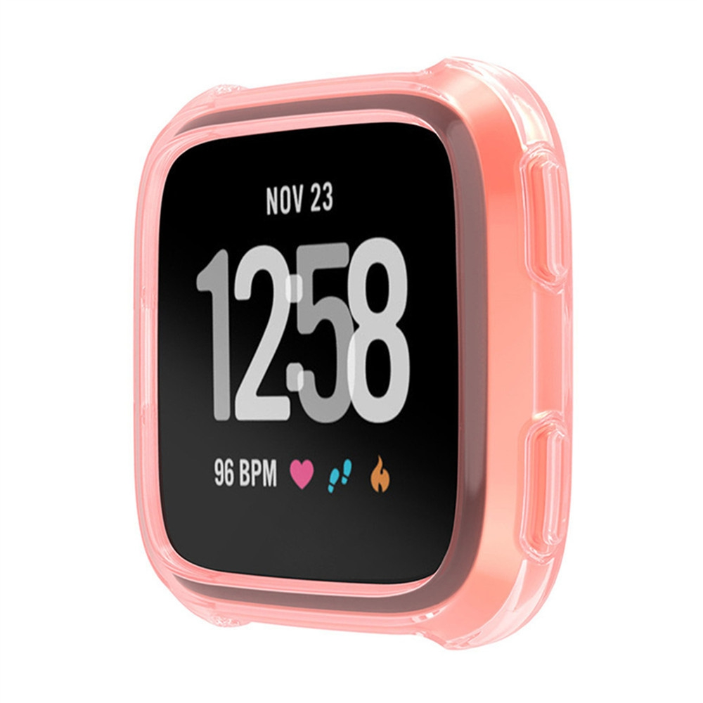 Tpu Silicone Cover Case Watch Casing Guard Protector For Fitbit Versa ..