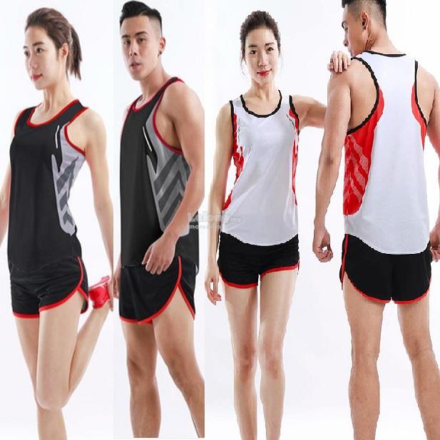 Track Field Running Top and Shorts for Men and Women 5807