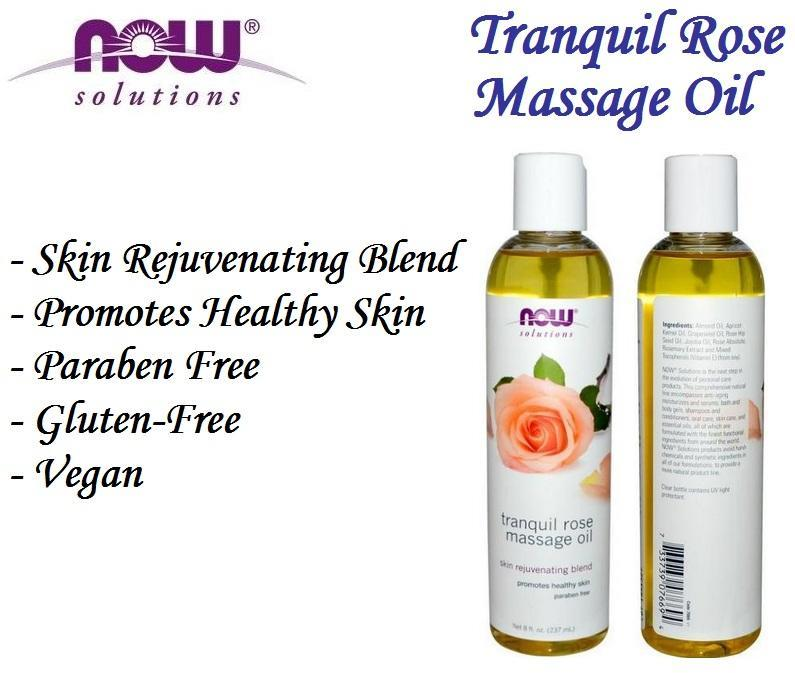 Tranquil Rose Massage Oil, Skin Rejuvenating Blend, USA (237ml)