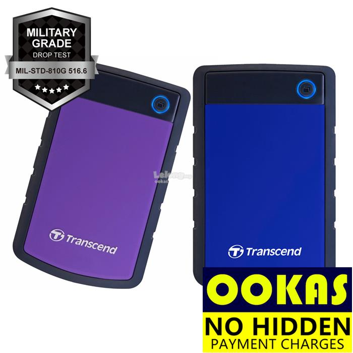 TRANSCEND 25H3P USB 3.1 4TB 2TB 1TB Rugged External Hard Disk Drive