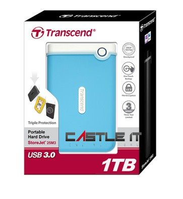 TRANSCEND HDD EXT 2.5' USB3.0 RUGGED (end 1/25/2016 7:19 PM)