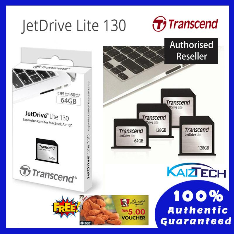 Transcend Jet Drive Lite 128GB 130 (Memory Card) - Macbook Air 13 Inch