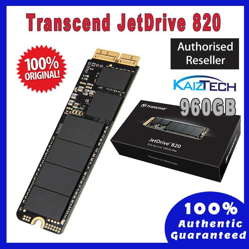 Transcend JetDrive 820 960GB - Thunderbolt PCIe Portable SSD for Mac