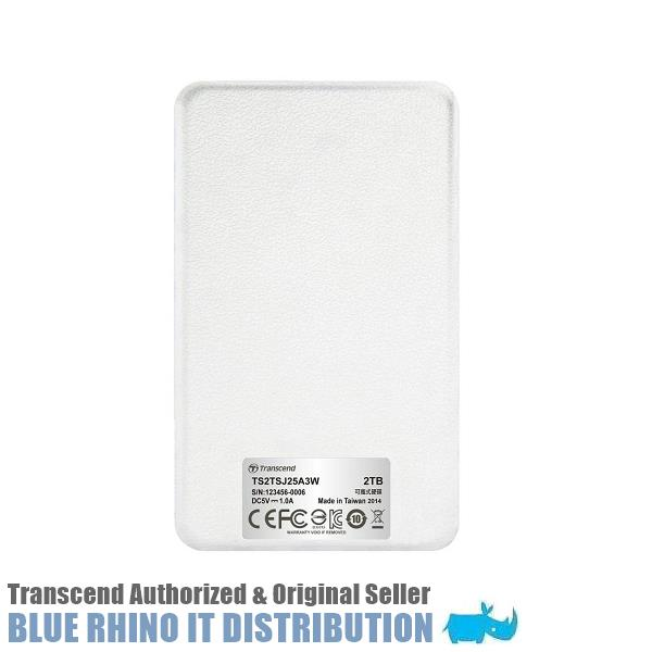 Transcend StoreJet 25A3 USB 3 1 1TB Portable HDD (White)