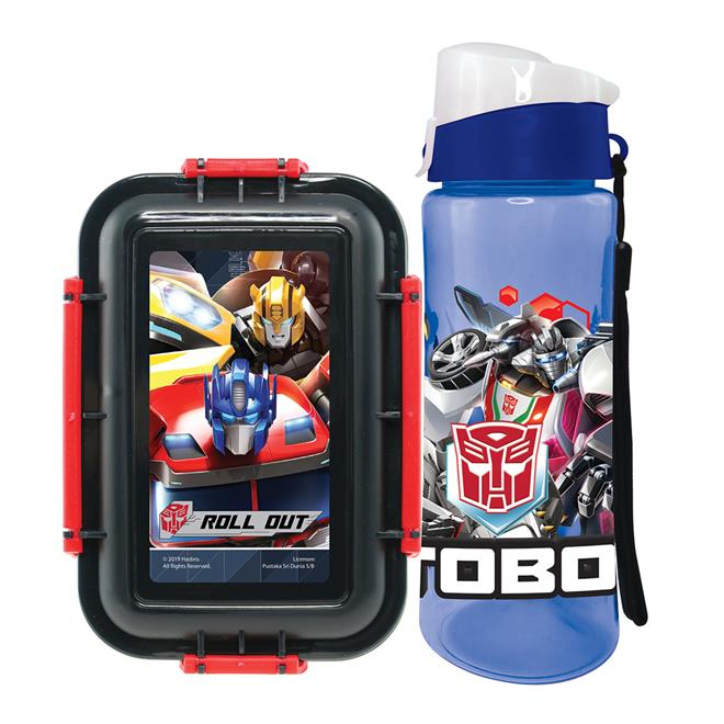 TRANSFORMERS ROLL OUT LUNCH BOX WITH WATER BOTTLE SET