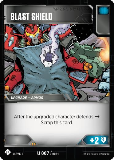 Transformers TCG Blast Shield - Battle Card Uncommon Playset
