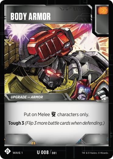 Transformers TCG Body Armor - Battle Card Uncommon Playset