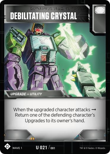 Transformers TCG Debilitating Crystal - Battle Card Uncommon Playset