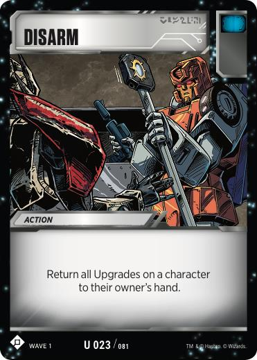 Transformers TCG Disarm - Battle Card Uncommon Playset