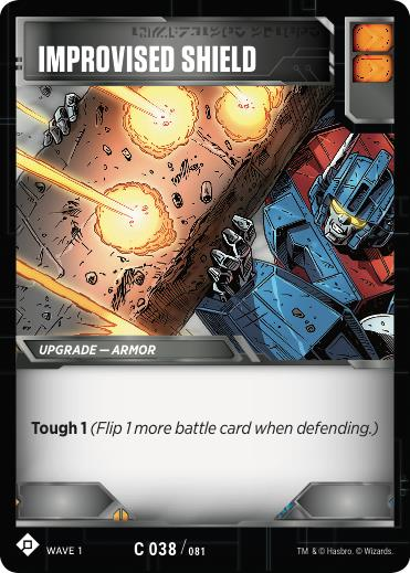 Transformers TCG Improvised Shield - Battle Card Common Playset