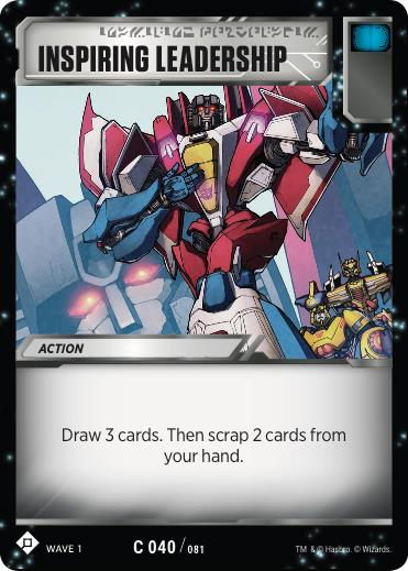 Transformers TCG Inspiring Leadership - Battle Card Common Playset