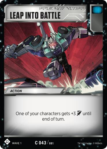 Transformers TCG Leap into Battle - Battle Card Common Playset
