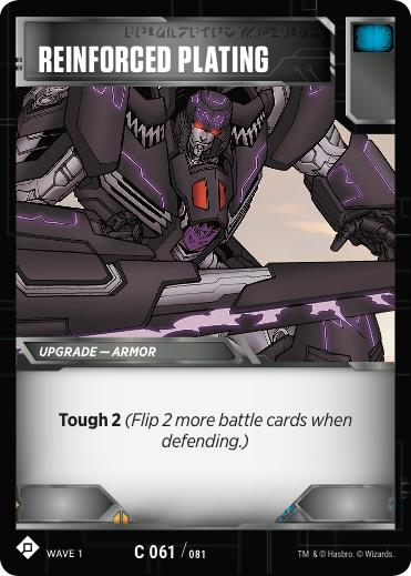 Transformers TCG Reinforced Plating - Battle Card Common Playset