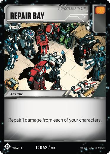 Transformers TCG Repair Bay - Battle Card Common Playset