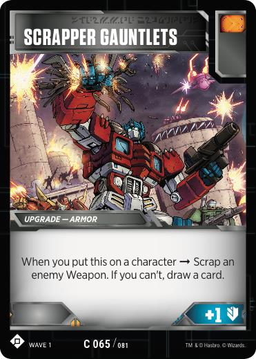 Transformers TCG Scrapper Gauntlets - Battle Card Common Playset