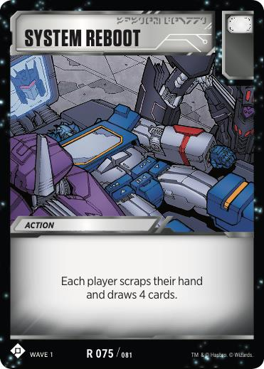 Transformers TCG System Reboot - Battle Card Rare Playset 75