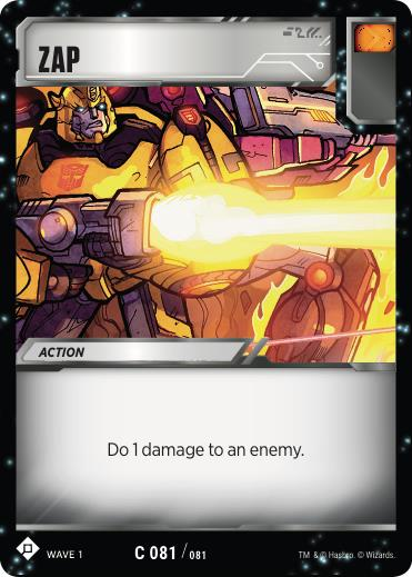 Transformers TCG Zap - Battle Card Common Playset